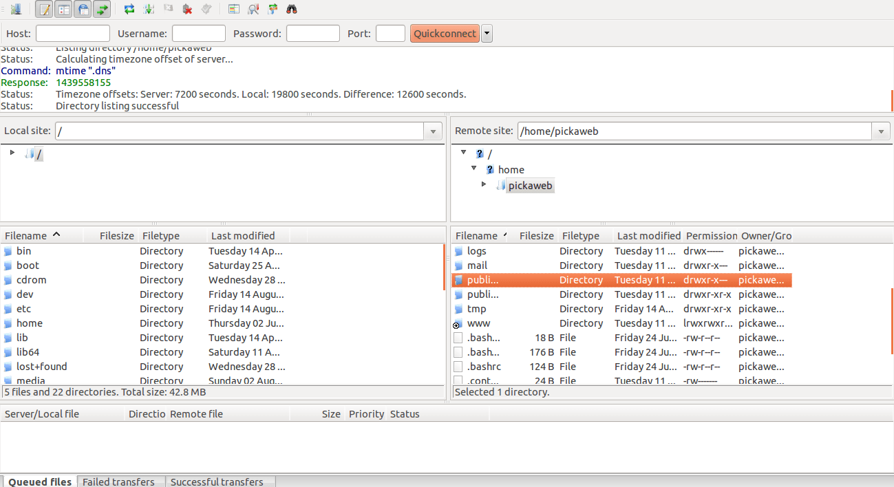 Getting started with FileZilla for FTP