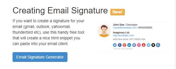 Best Email Signature Generators Free Premium Tools