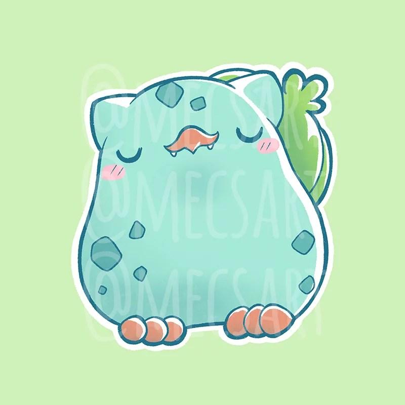 Bulbasaur pokémon versión pollito kawaii