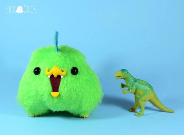 Peluche kawaii dinosaurio pollito Chiripio version