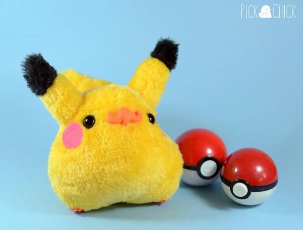 Peluche kawaii pikachu pokemon pollito Chiripio version