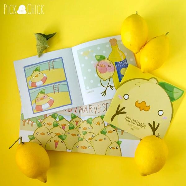 Comic kawaii pollito limon y sus cosas, humor