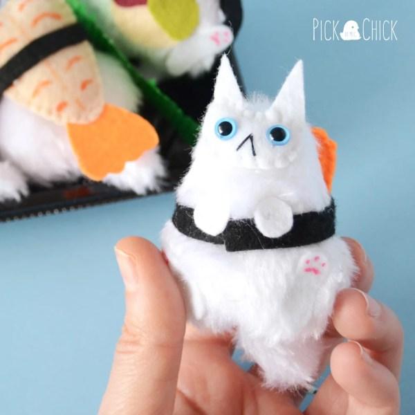 peluche gato sushi