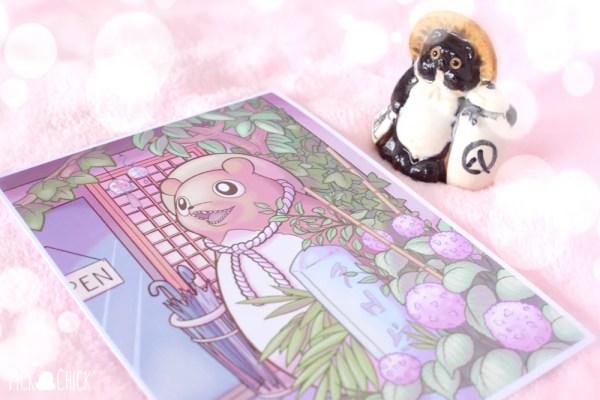 cuadro japonés tanuki kawaii