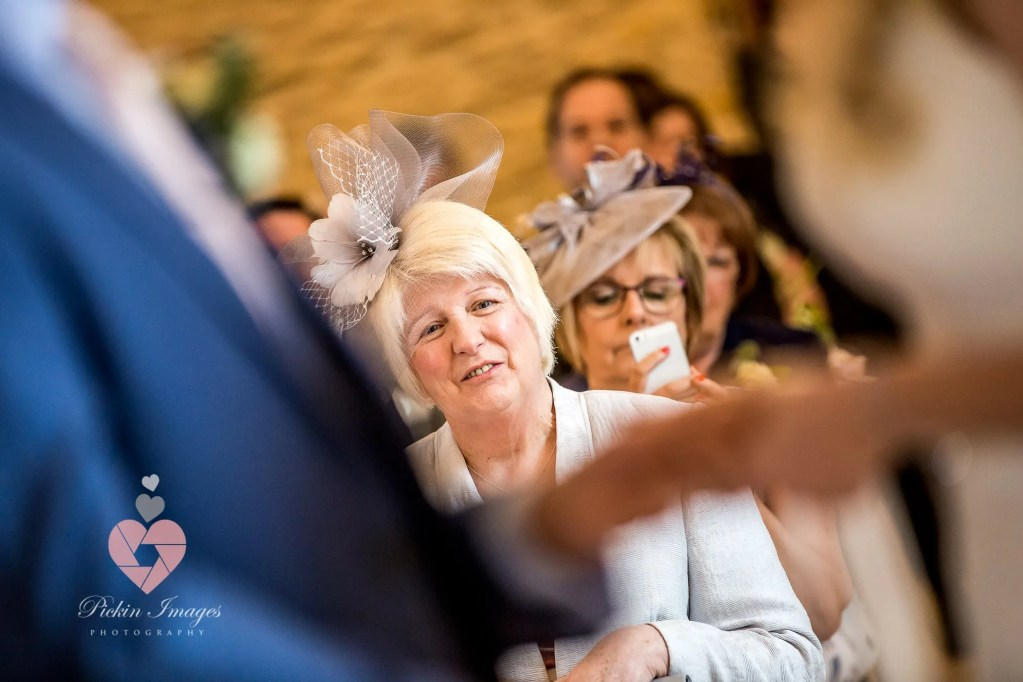 Mum watching bride getting married. Pickin Images Photography