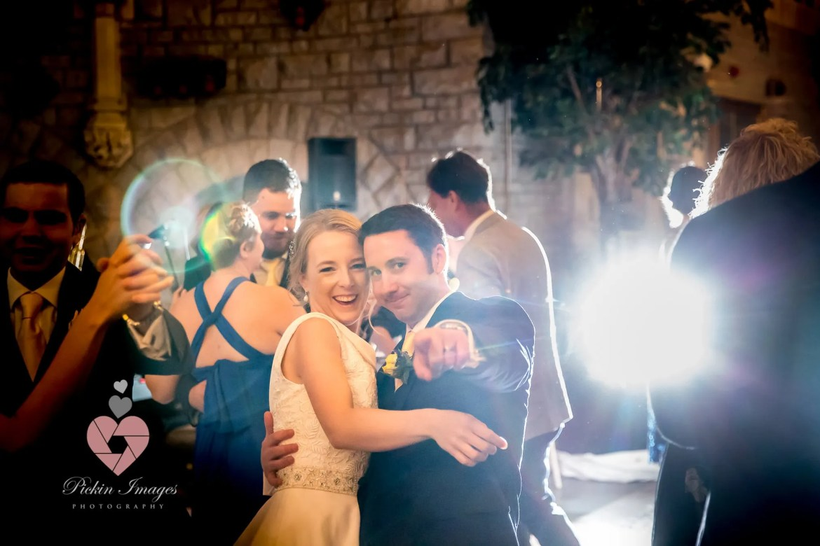 Bride and groom hitting the dance floor for the first time as a married couple. Swindon Wedding Photographer