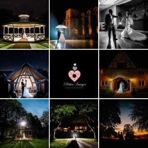 Night time shots of a wedding taken by Swindon wedding photographer, Pickin-images-Photography