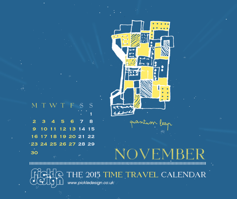 The November 2015 Time Travel Calendar featuring Quantum Leap