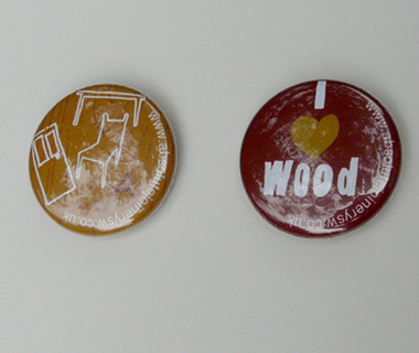 Pin badge design for Absolute Joinery