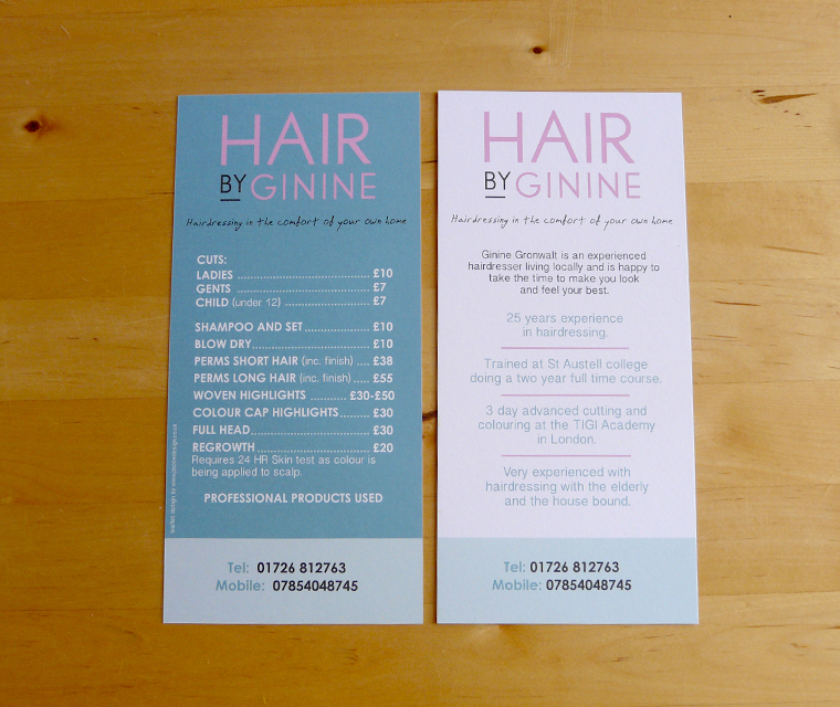 Hair by Ginine Flyer