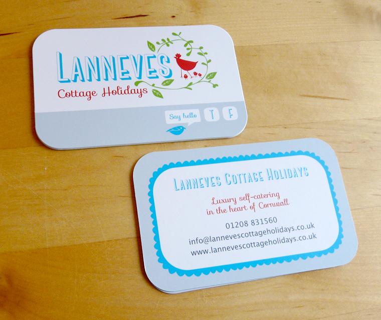 Lanneves Cottage Holidays Business Cards