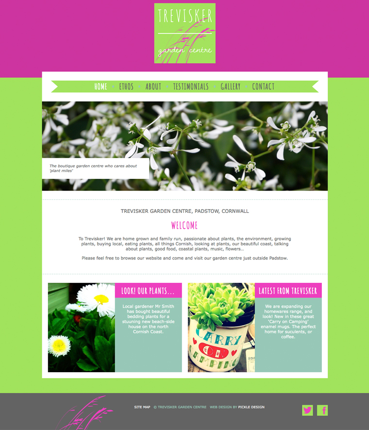 Trevisker Garden Centre Website