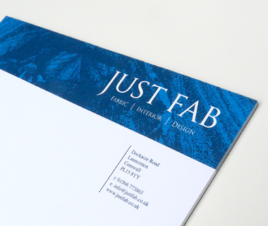 A5 notepad design for Just Fab Design