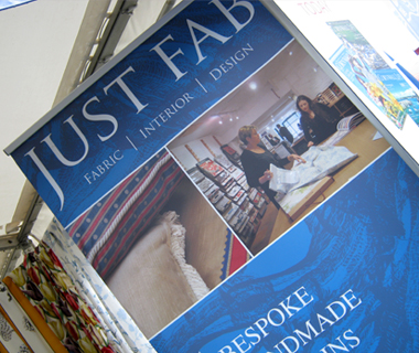 Roller banner design for Just Fab Design