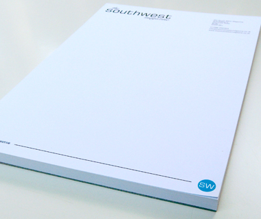 Notepad design for The South West Magazine