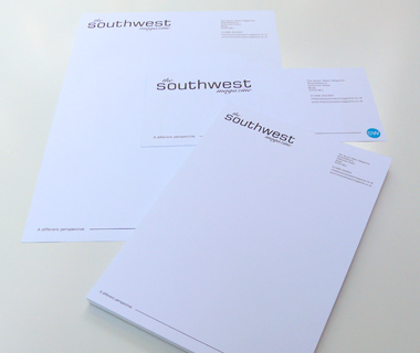 Stationery design for The South West Magazine