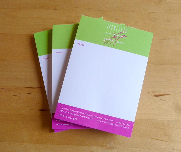 Notepad design for Trevisker Garden Centre