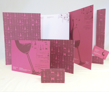 Stationery design for Wadebridge Wines