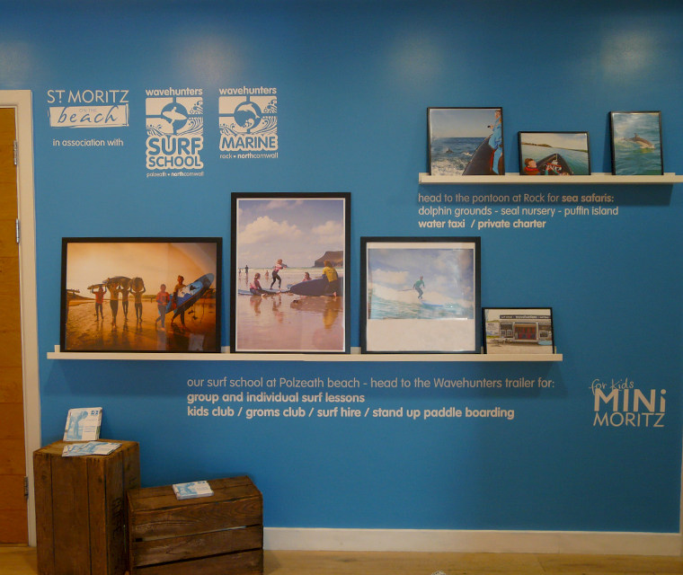 Wall graphics design for Wavehunters Surf School