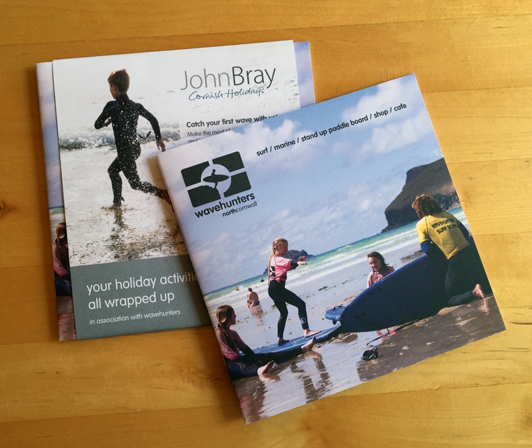 Wavehunters Brochure with a wrap for John Bray
