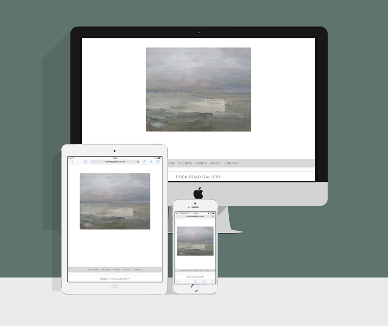 Responsive mobile friendly website for the Rock Road Gallery