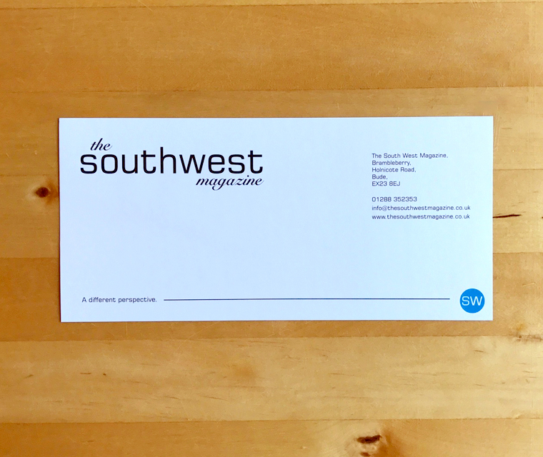 The South West Magazine complement slip