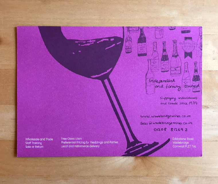 Wadebridge Wines flyer