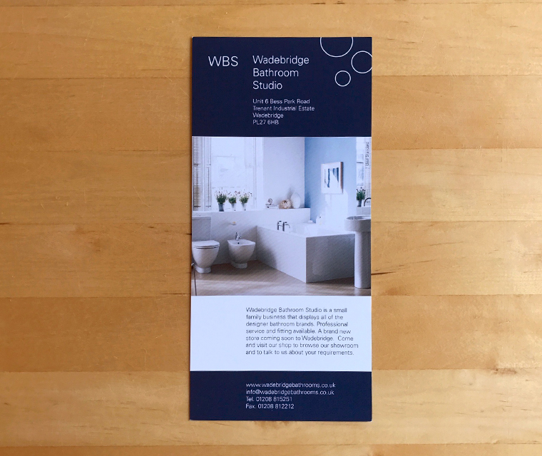 Wadebridge Bathroom Studio leaflet