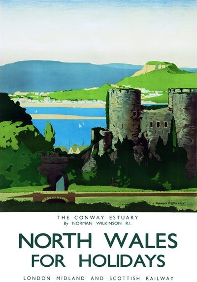 North Wales vintage holiday poster