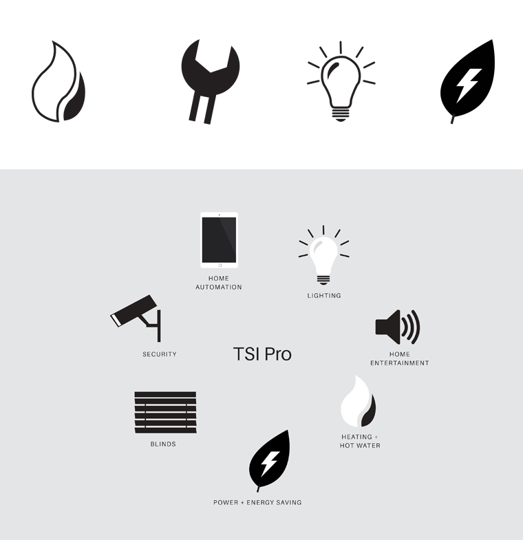 TSI Pro branding symbols and icons