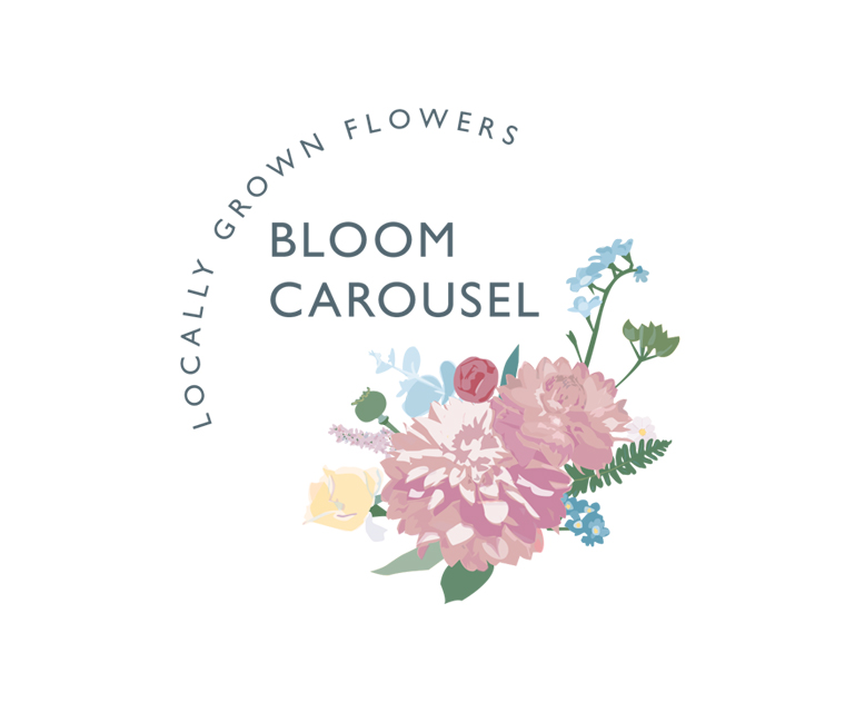 Bloom Carousel florist logo design by Pickle Design
