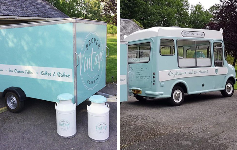Proper Vintage Beryl the bedford ice-cream van