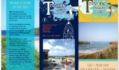 Leaflet design for a surf shop and cafe in North Cornwall