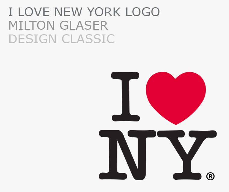 The iconic I love Nw York logo by Milton Glaser