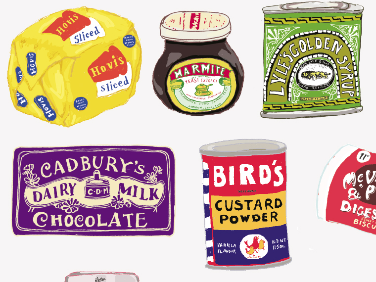 Vintage packaging illustrations