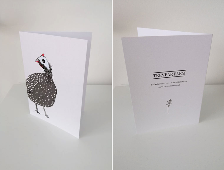 Greetings card designed for our self catering clients