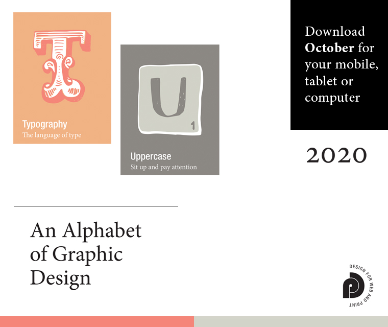 Letters T and U from our Alphabet of graphic design