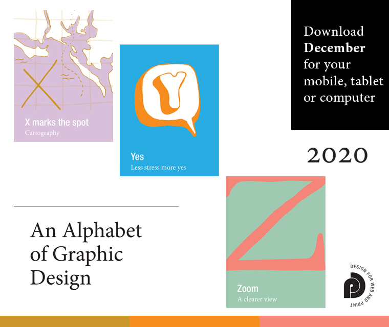 Letters X, Y and Z from our Alphabet of graphic design