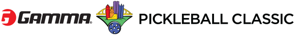 Gamma pickleball charity event logo