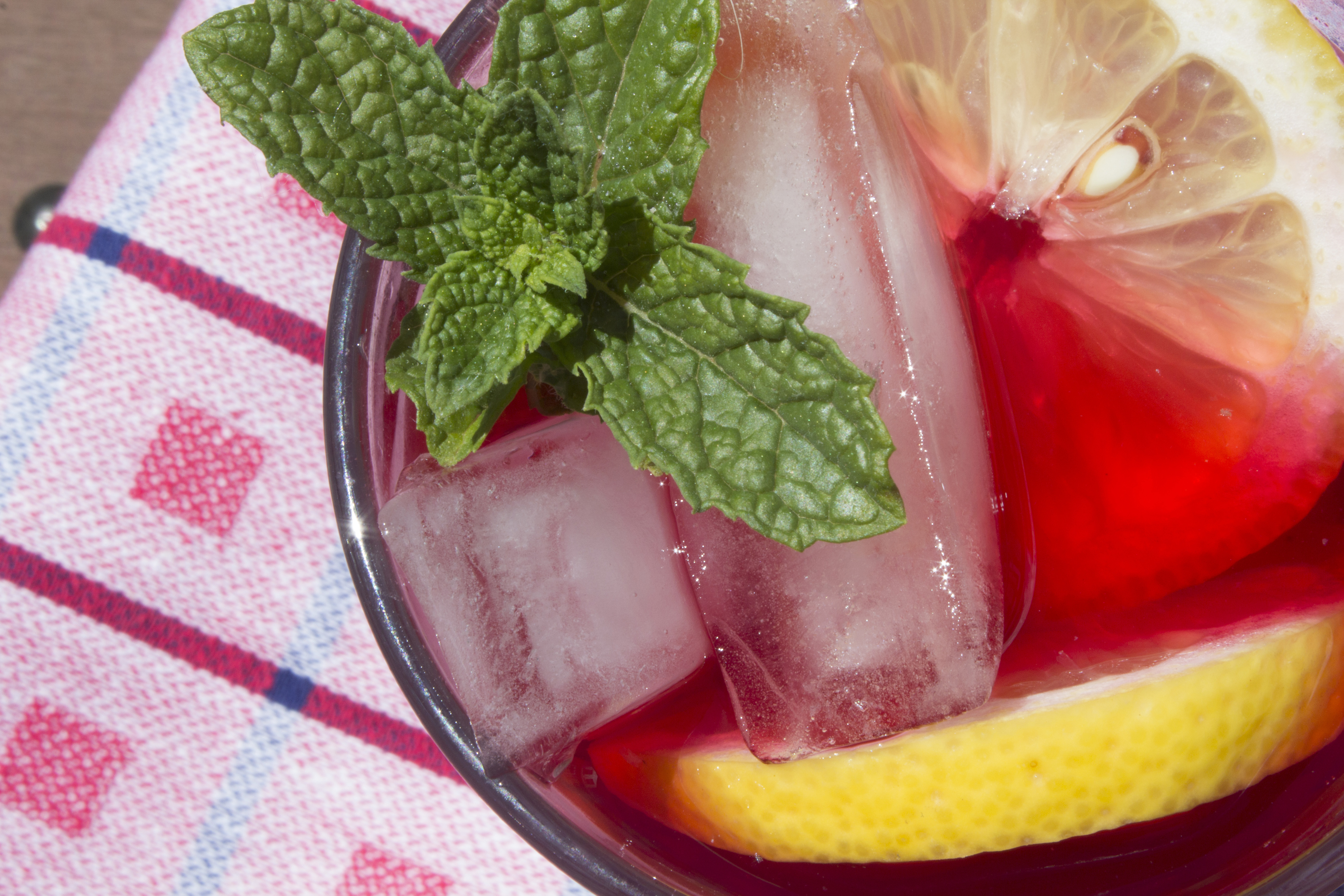Hibiscus sun tea is so tart and refreshing. Sun tea takes a minute of planning and moments to make. Let the sun do the work for you!
