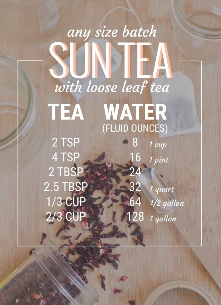 sun tea guide for loose leaf tea // picklejarstudios.com
