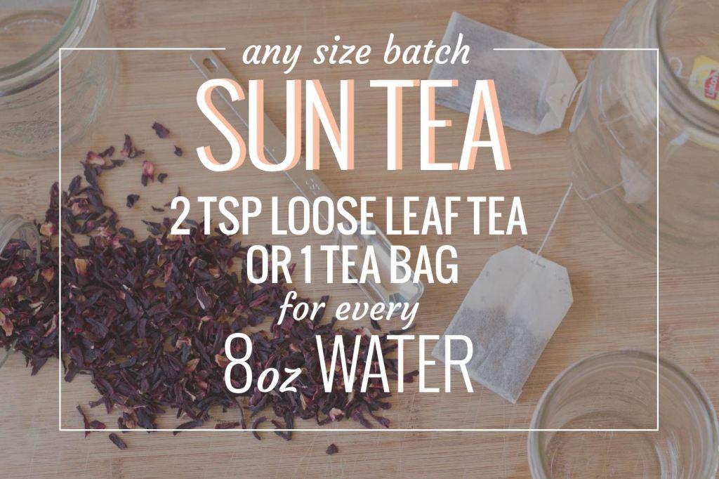sun tea ratios // picklejarstudios.com