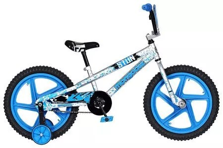 "Mongoose Boys Stun Bicycle – 18"" wheels Blue Colored Boys Bike"