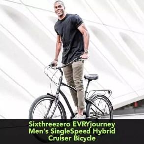 Sixthreezero EVRYjourney Mens Single Speed Hybrid Cruiser Bicycle