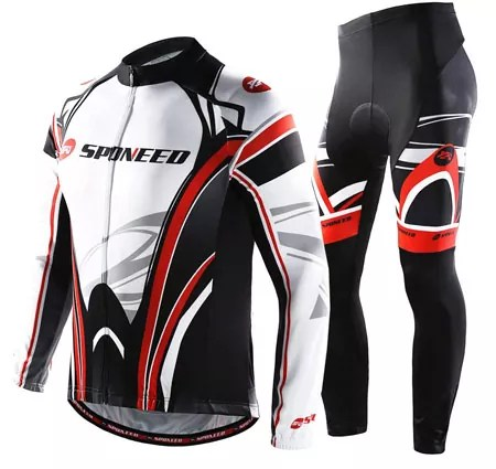 Sponeed Men's Long Sleeve Cycling Jerseys for Mountain Bike Road Bicycle