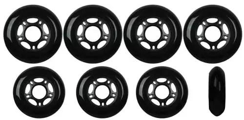 Player's Choice Inline Skate Wheels HILO SET 72mm 76mm 80mm 82A Black Outdoor Hockey Rollerblade