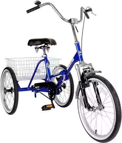 Tri-Rad Adult Folding Unisex Tricycle