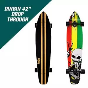 DINBIN 42 Inch Drop Through Longboard