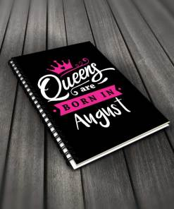 Queens Are Born In August Notebook By Roshnai - Pickshop.Pk