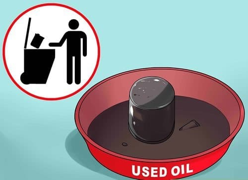 dispose of used engine oil